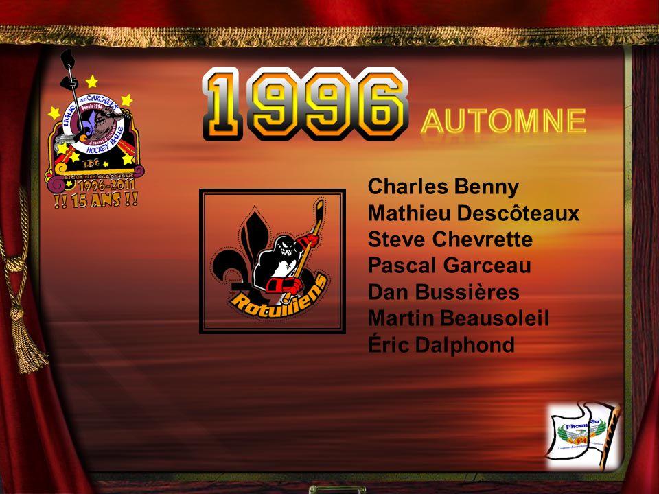 Automne Charles Benny Mathieu Descôteaux Steve Chevrette