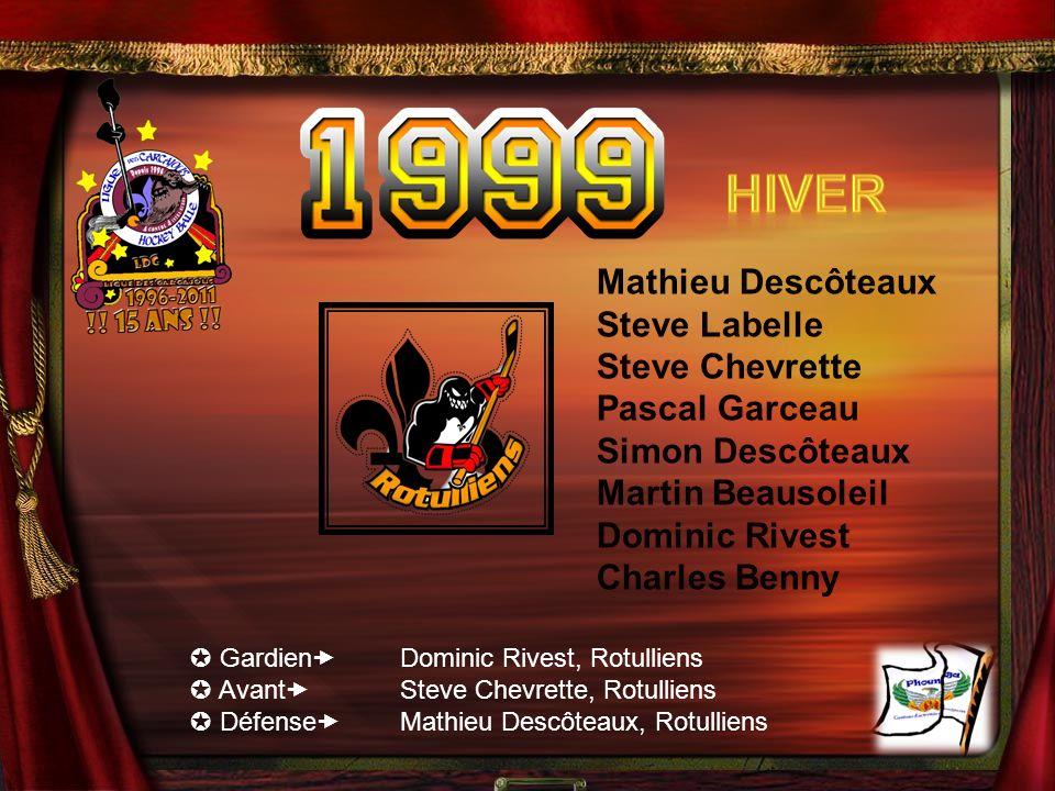 Hiver Mathieu Descôteaux Steve Labelle Steve Chevrette Pascal Garceau