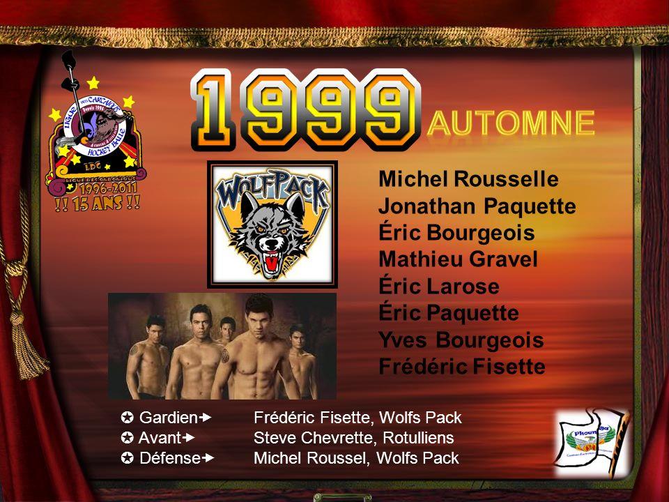 Automne Michel Rousselle Jonathan Paquette Éric Bourgeois