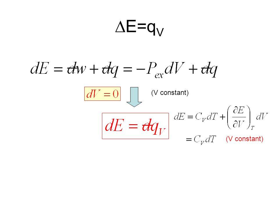 DE=qV (V constant) (V constant)