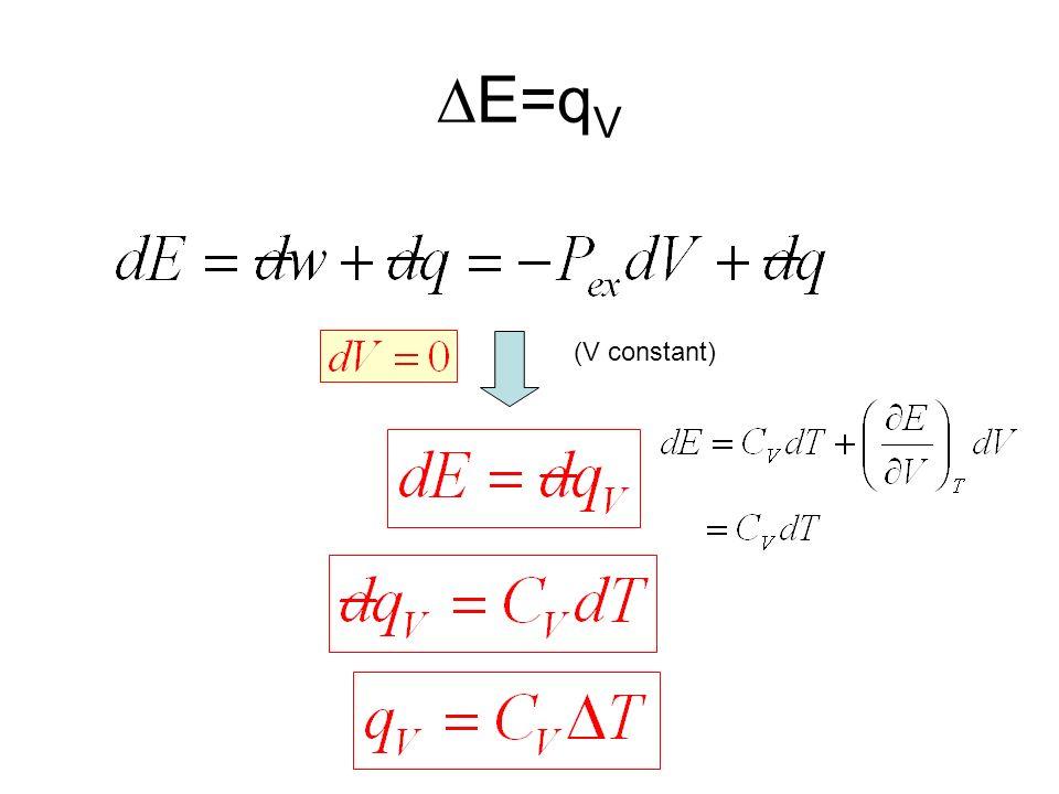 DE=qV (V constant)