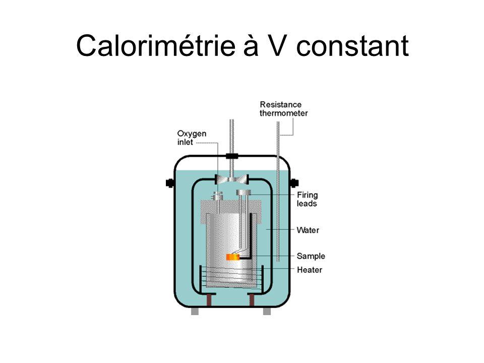 Calorimétrie à V constant