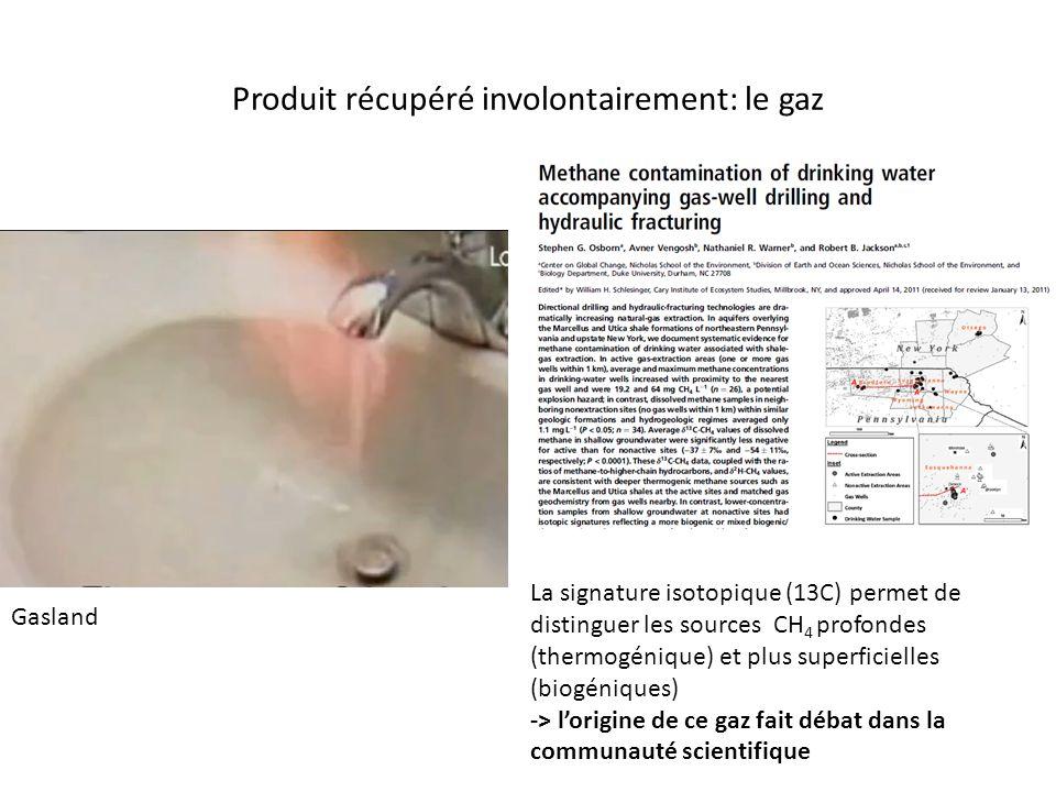 Produit récupéré involontairement: le gaz