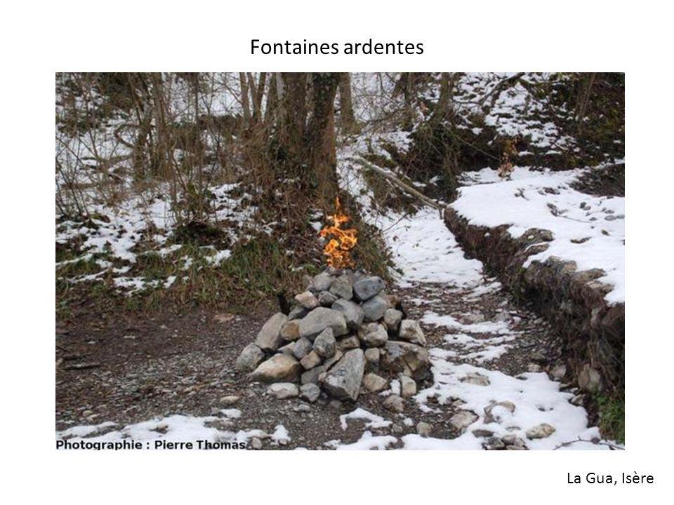 Fontaines ardentes La Gua, Isère