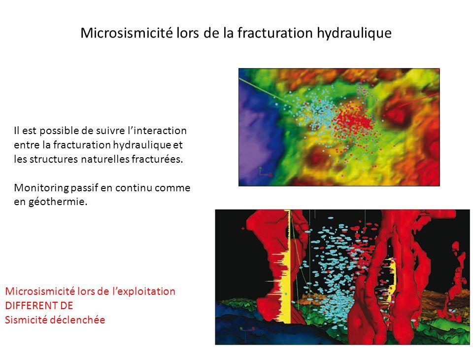 Microsismicité lors de la fracturation hydraulique