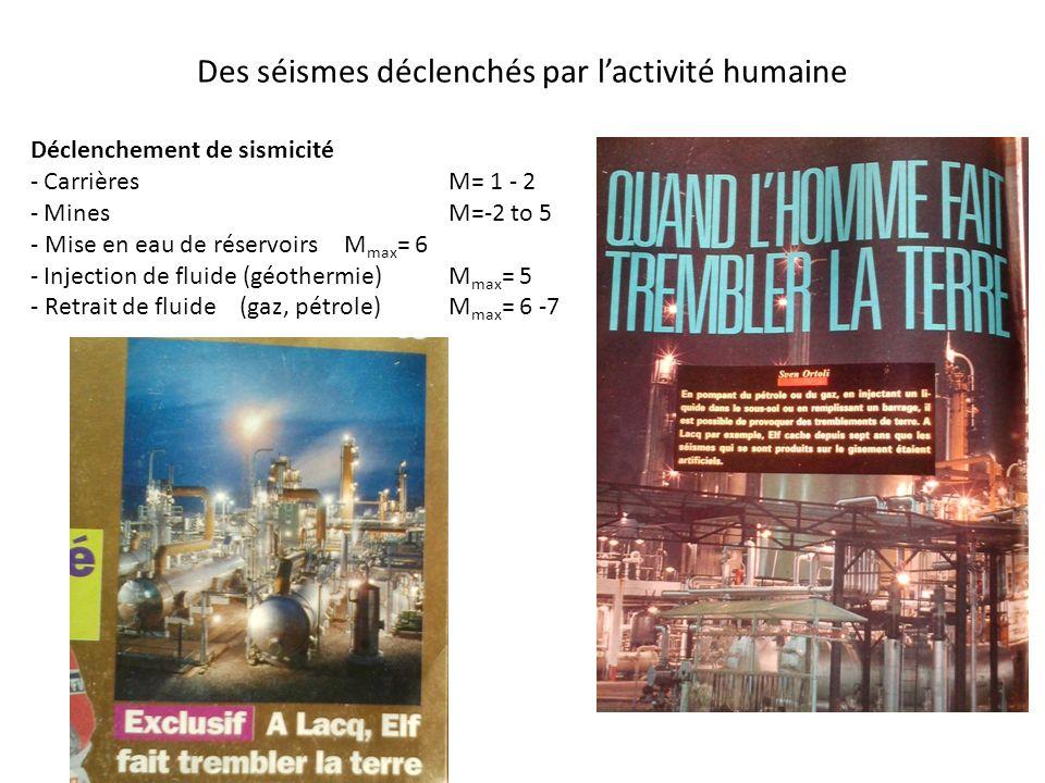 Des séismes déclenchés par l'activité humaine