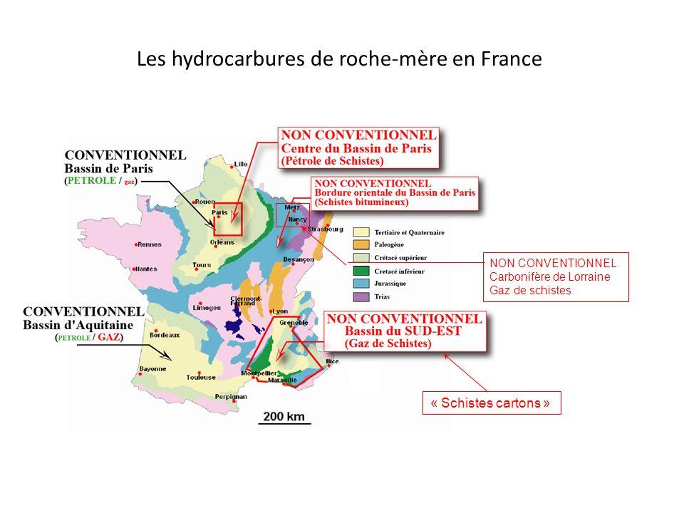 Les hydrocarbures de roche-mère en France
