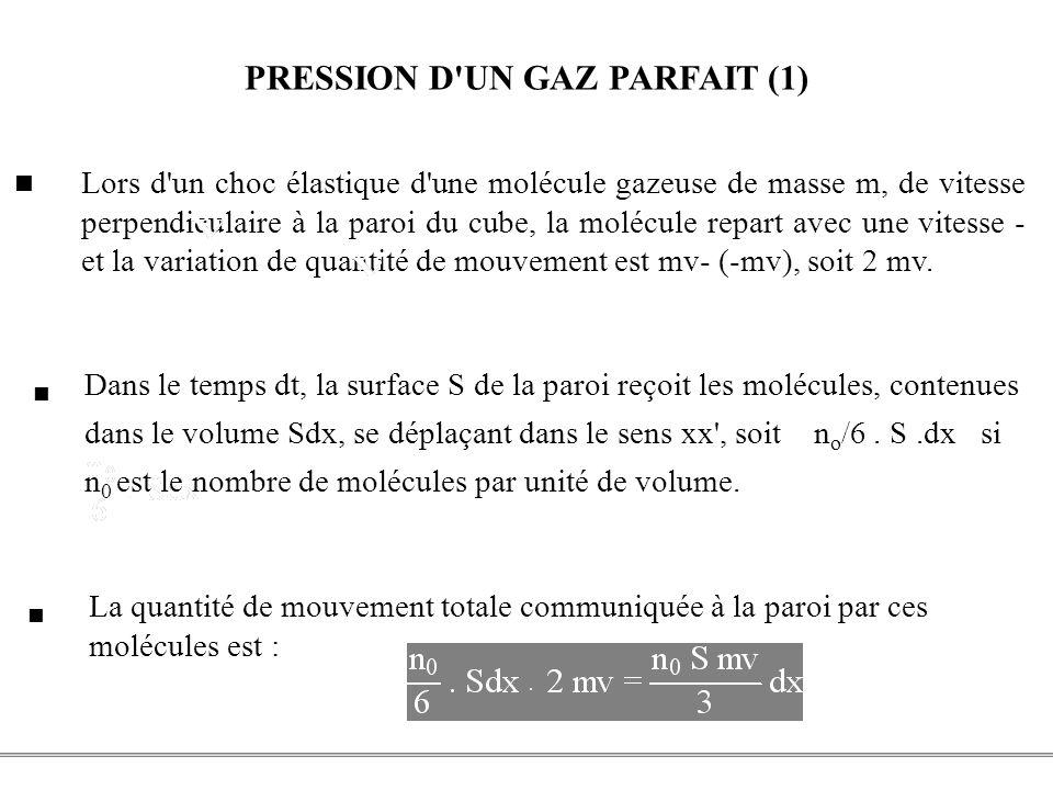 PRESSION D UN GAZ PARFAIT (1)