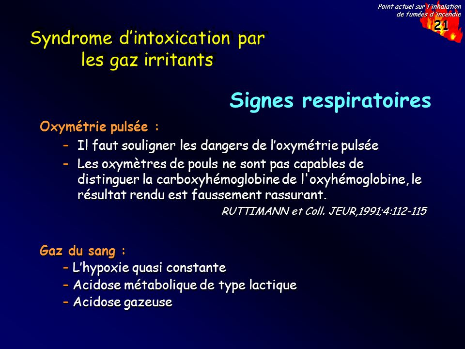Syndrome d'intoxication par les gaz irritants