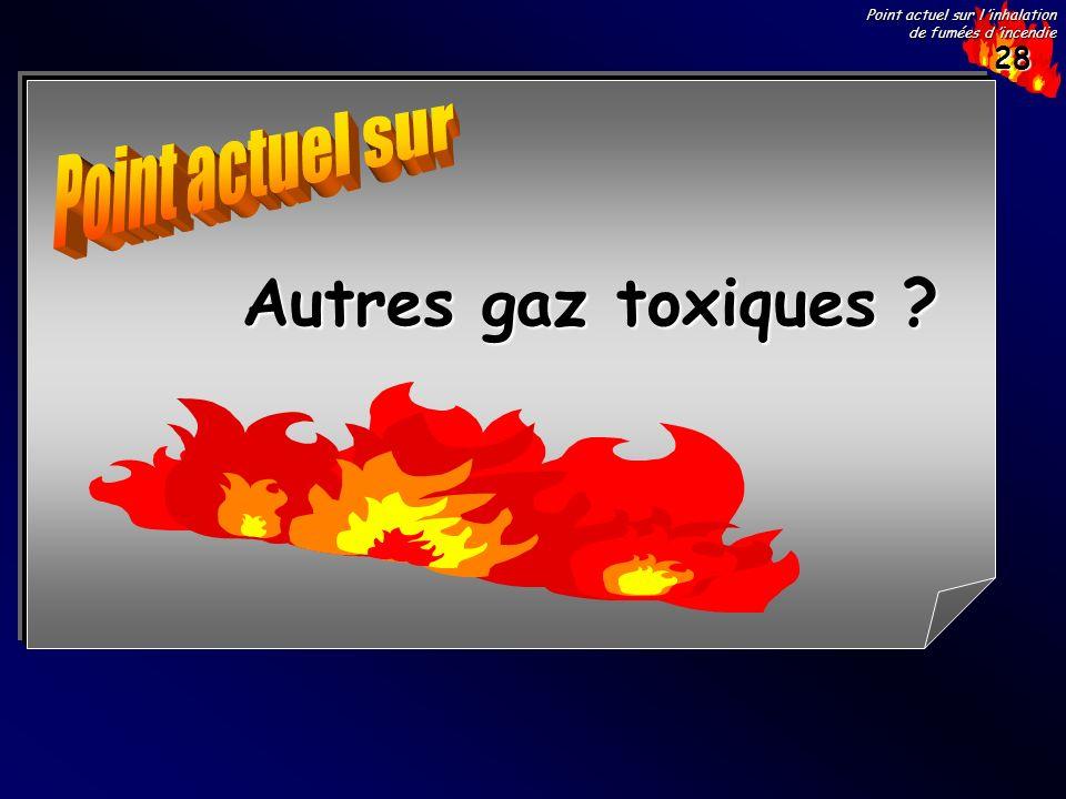Point actuel sur Autres gaz toxiques