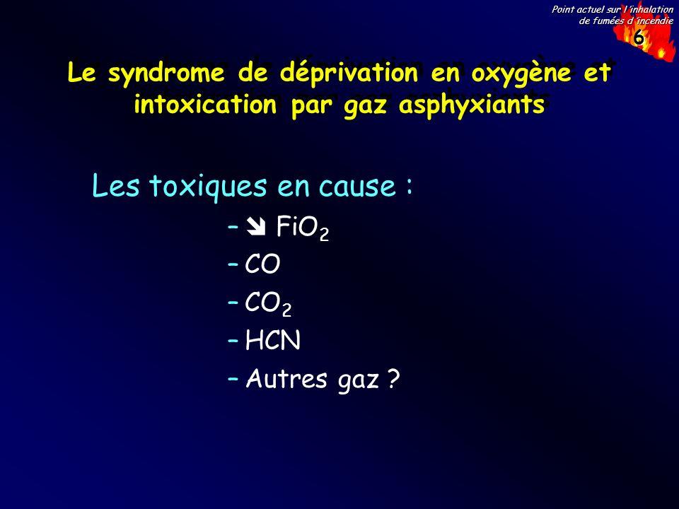 Le syndrome de déprivation en oxygène et intoxication par gaz asphyxiants