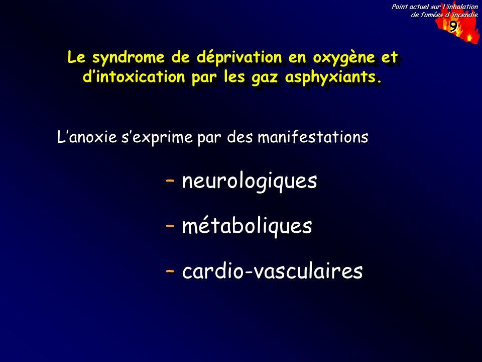 neurologiques métaboliques cardio-vasculaires