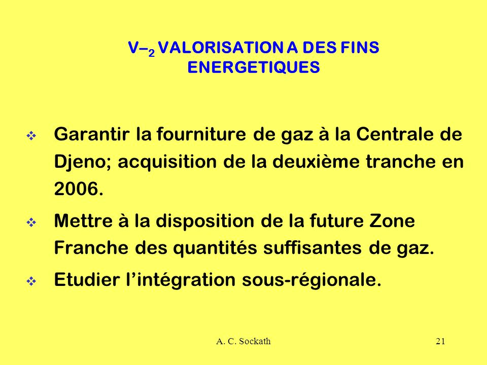 V–2 VALORISATION A DES FINS ENERGETIQUES