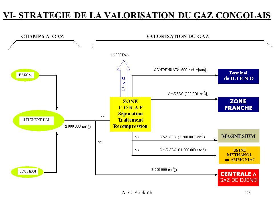 VI- STRATEGIE DE LA VALORISATION DU GAZ CONGOLAIS