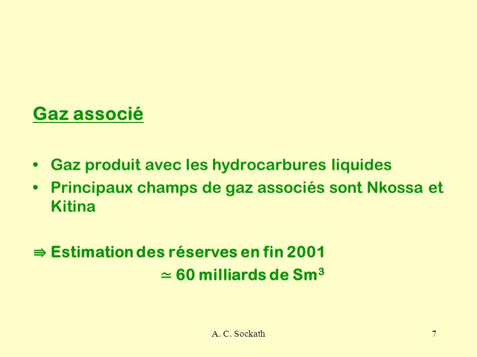 Gaz associé Gaz produit avec les hydrocarbures liquides