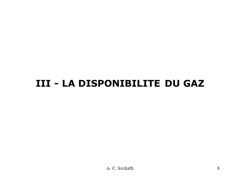 III - LA DISPONIBILITE DU GAZ