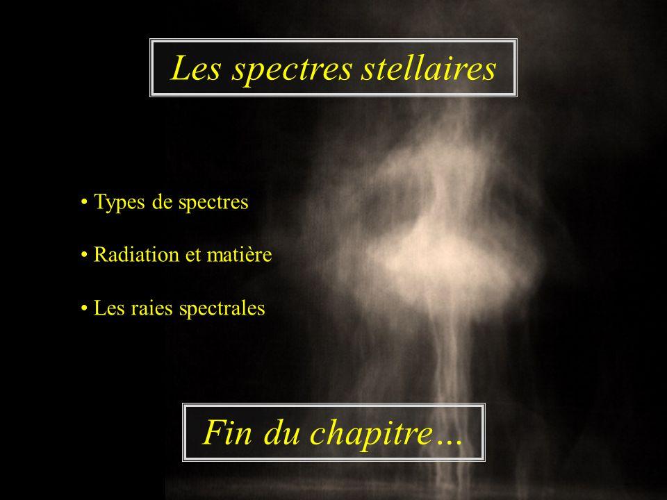 Les spectres stellaires