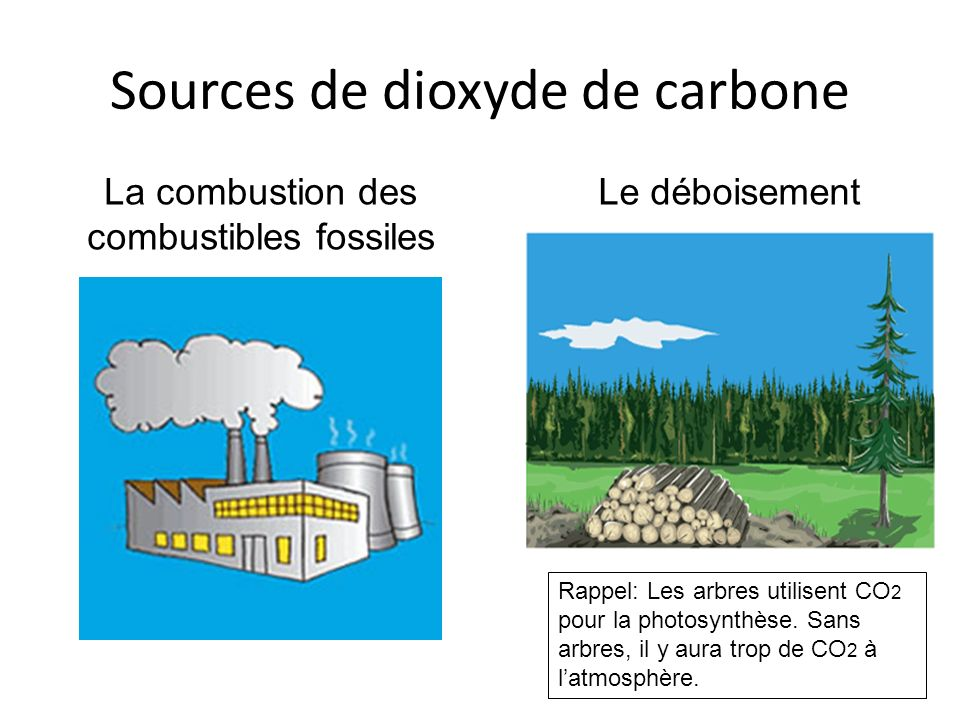 Sources de dioxyde de carbone