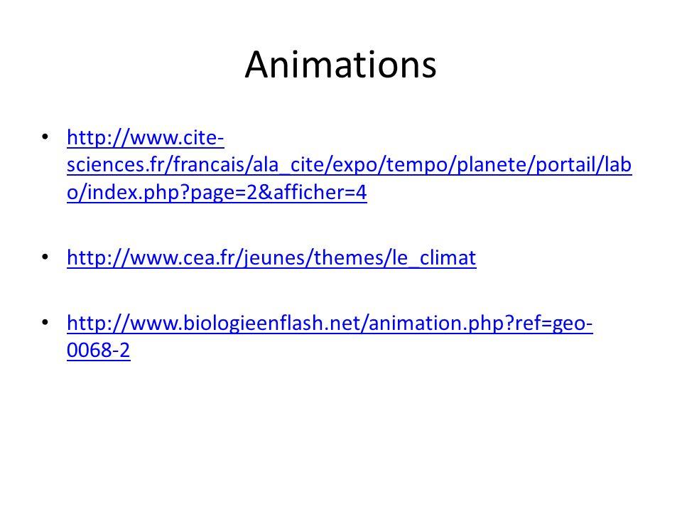 Animations http://www.cite-sciences.fr/francais/ala_cite/expo/tempo/planete/portail/labo/index.php page=2&afficher=4.