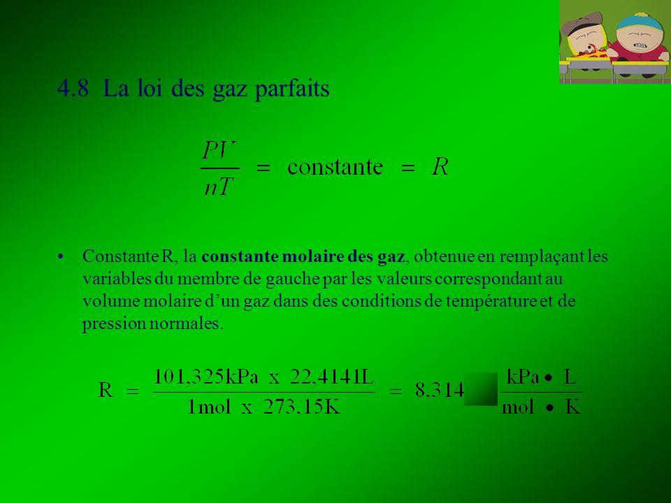 4.8 La loi des gaz parfaits