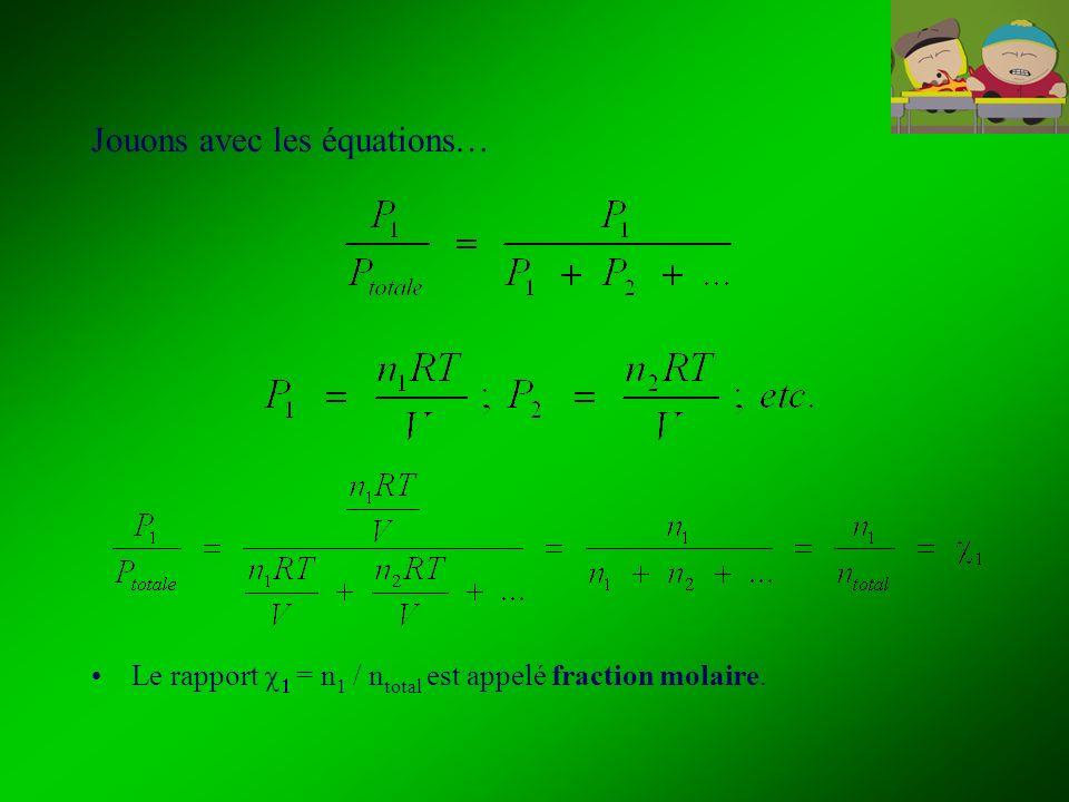Jouons avec les équations…