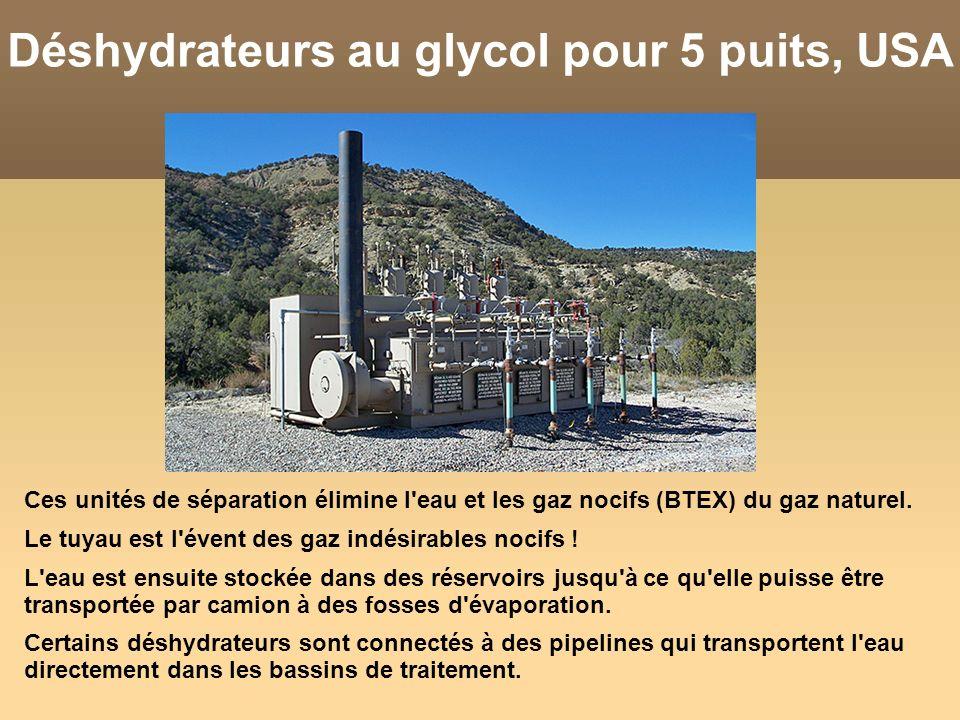 Déshydrateurs au glycol pour 5 puits, USA