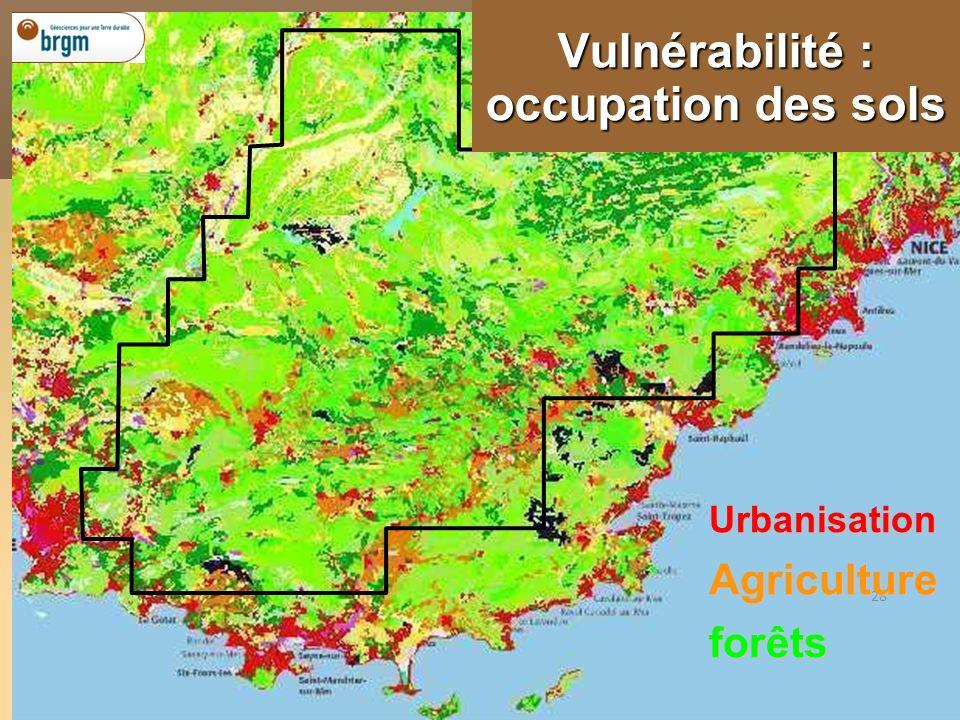 Vulnérabilité : occupation des sols