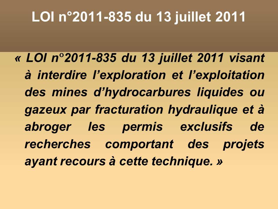 LOI n°2011-835 du 13 juillet 2011