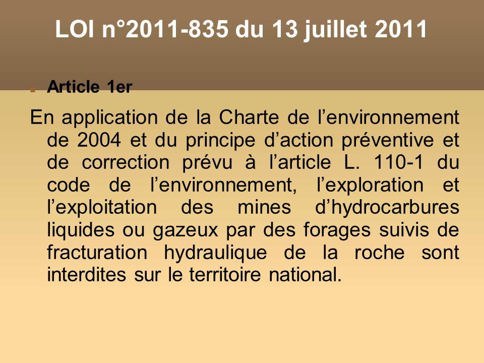 LOI n°2011-835 du 13 juillet 2011 Article 1er.