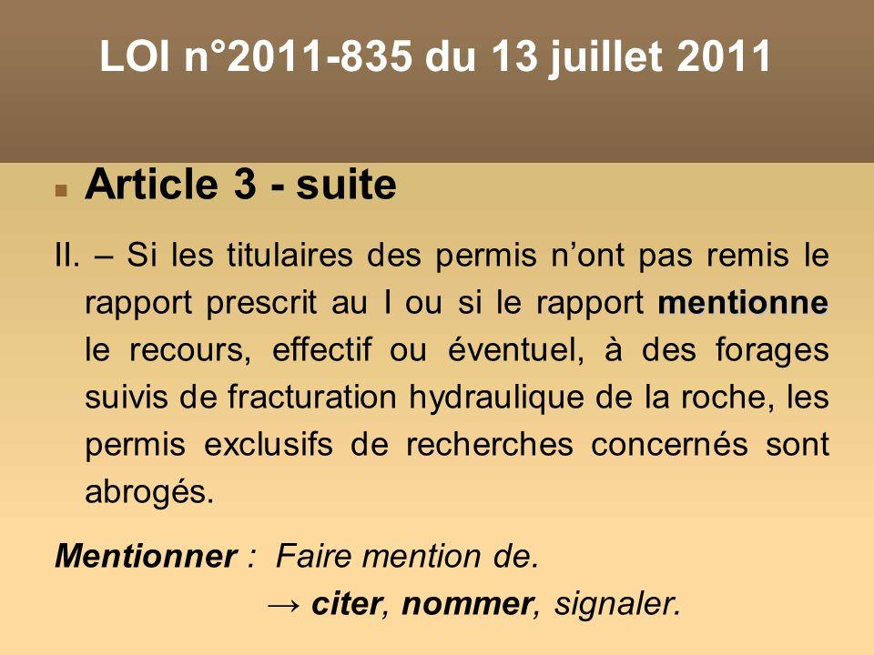 LOI n°2011-835 du 13 juillet 2011 Article 3 - suite