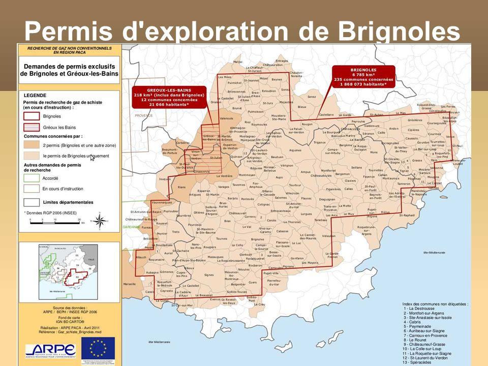 Permis d exploration de Brignoles