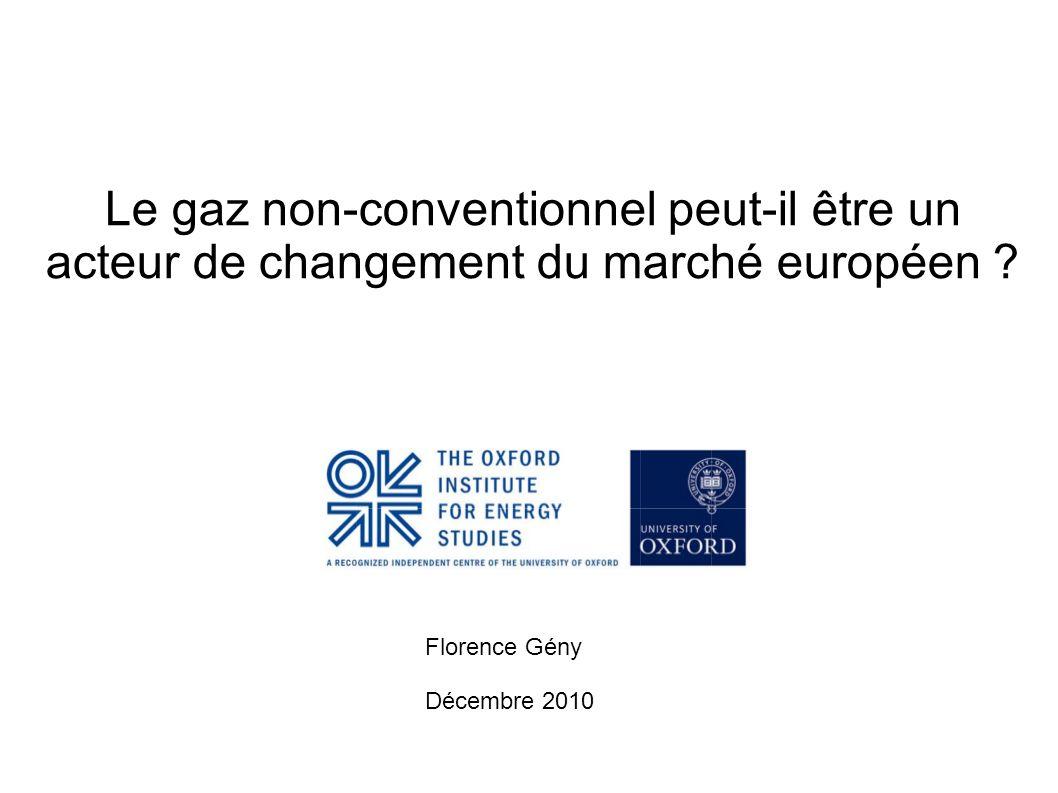 Le gaz non-conventionnel peut-il être un acteur de changement du marché européen