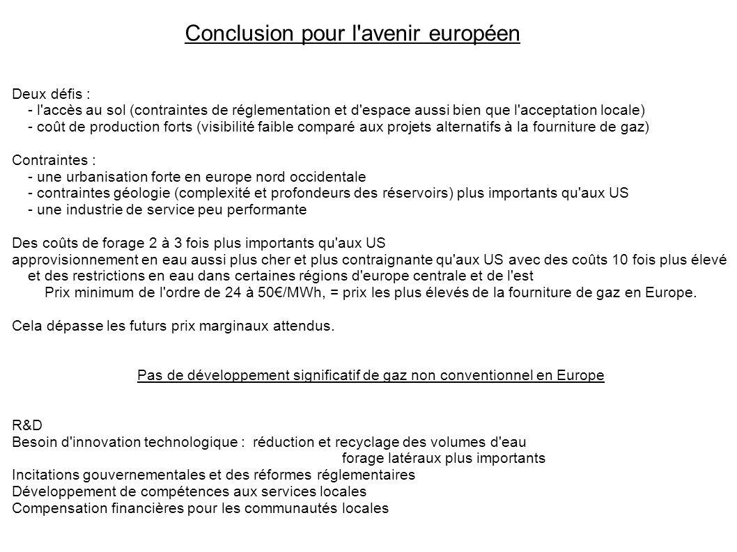 Conclusion pour l avenir européen