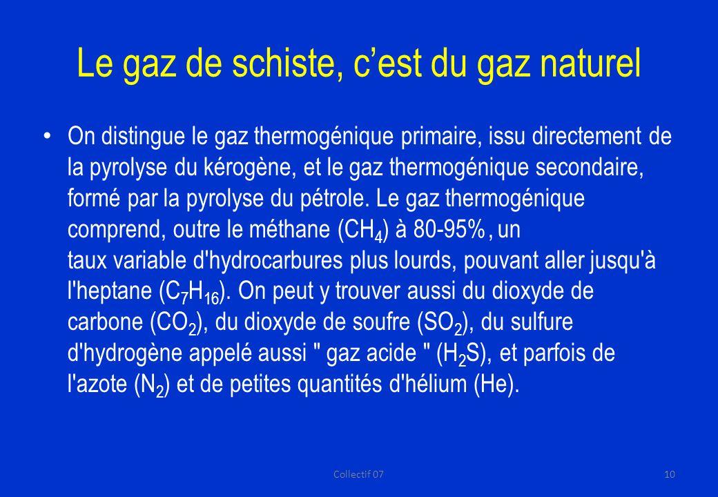 Le gaz de schiste, c'est du gaz naturel