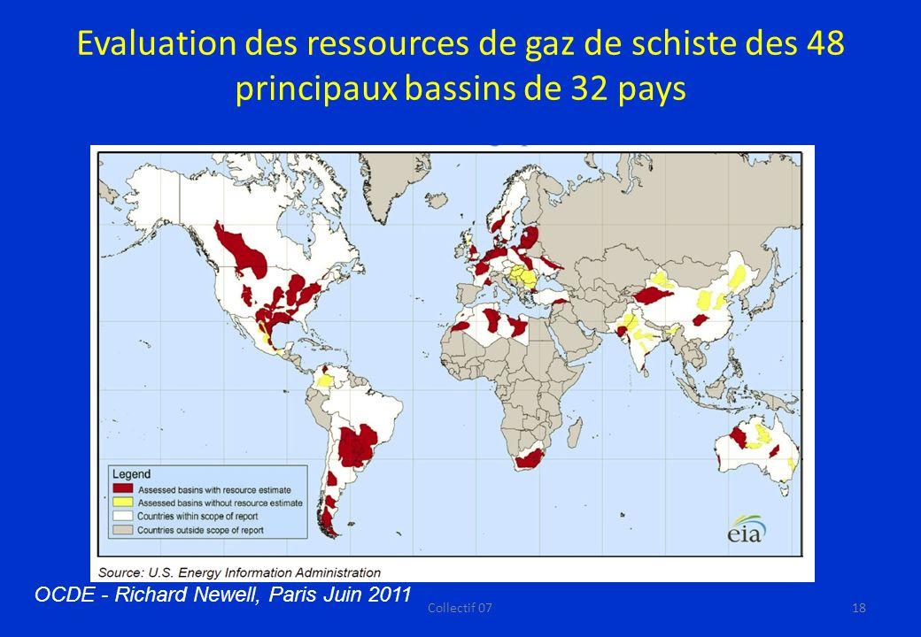 Evaluation des ressources de gaz de schiste des 48 principaux bassins de 32 pays
