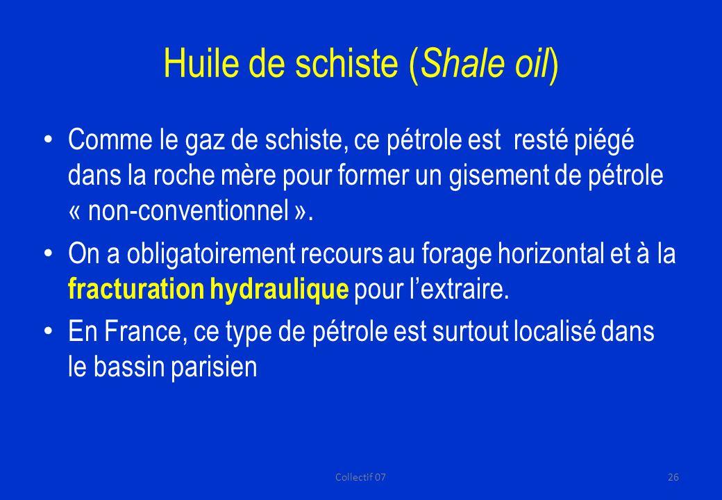 Huile de schiste (Shale oil)