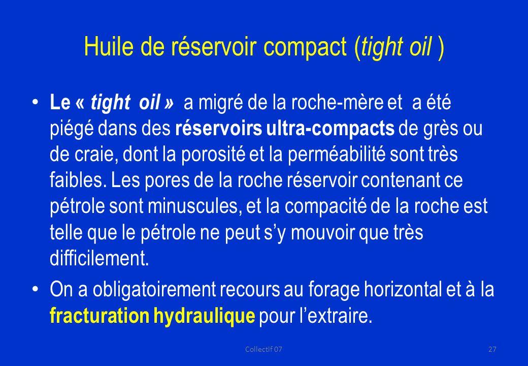 Huile de réservoir compact (tight oil )