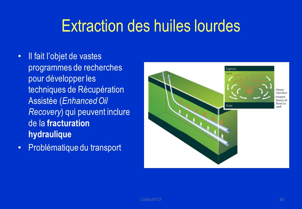 Extraction des huiles lourdes