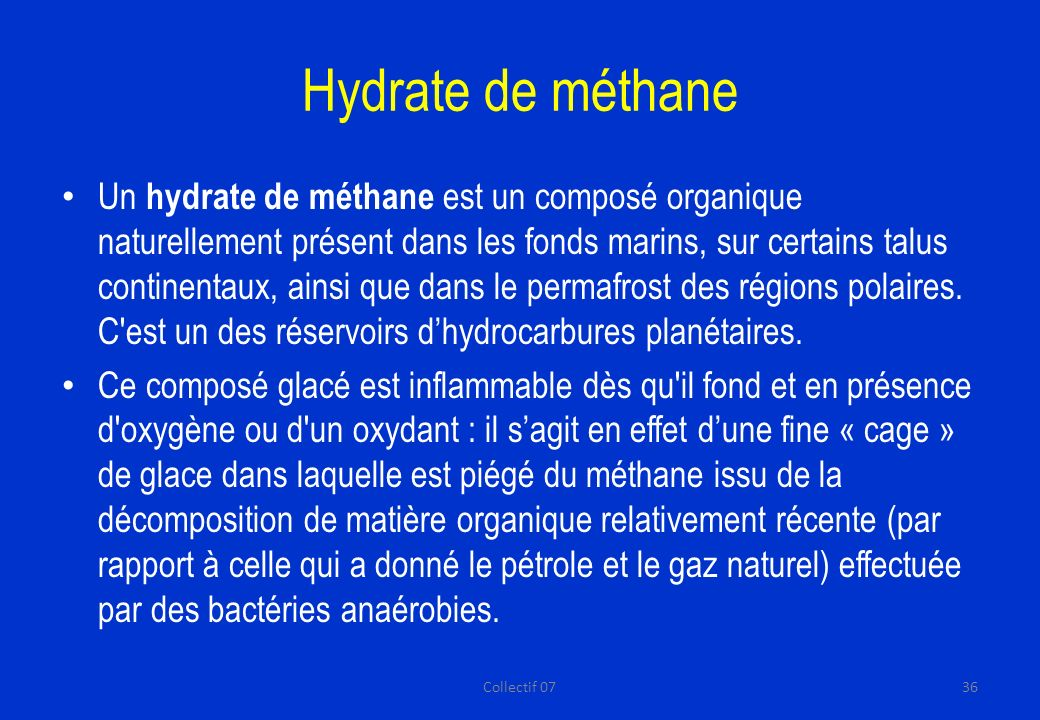 Hydrate de méthane