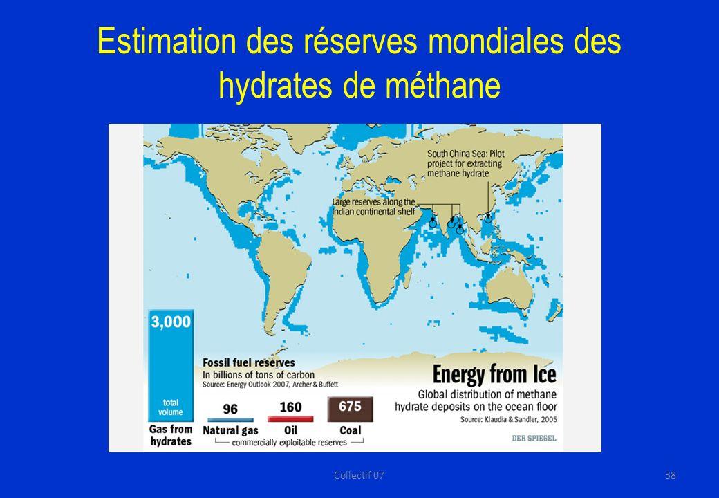 Estimation des réserves mondiales des hydrates de méthane