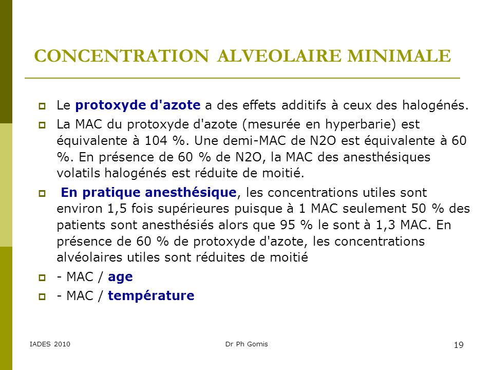 CONCENTRATION ALVEOLAIRE MINIMALE