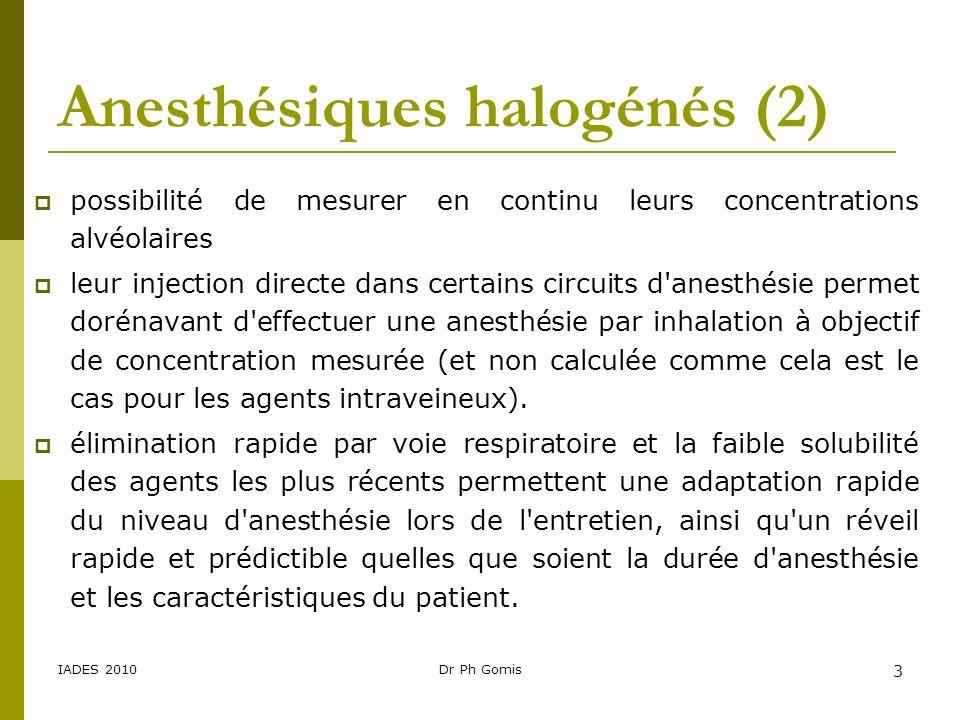 Anesthésiques halogénés (2)