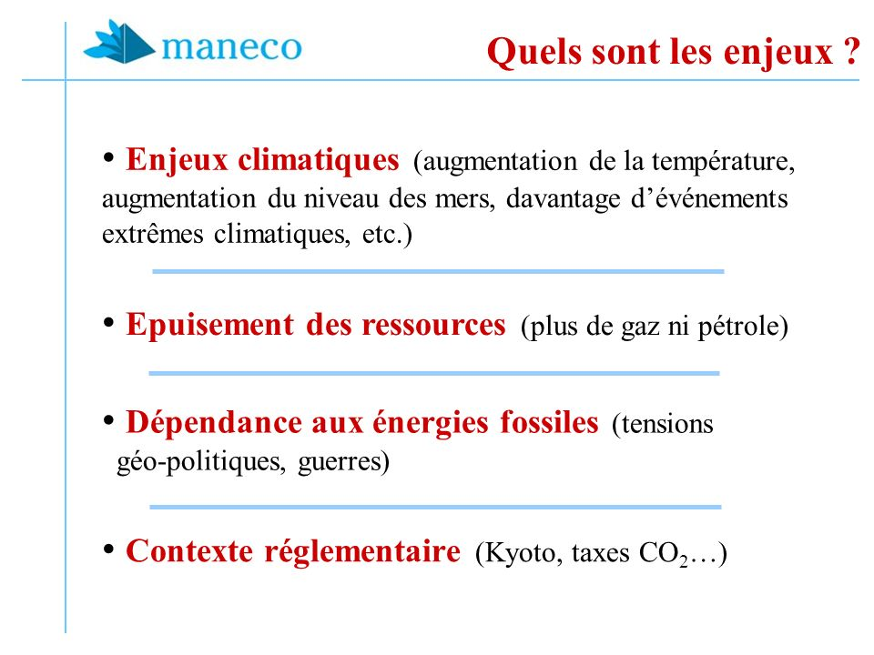Epuisement des ressources (plus de gaz ni pétrole)