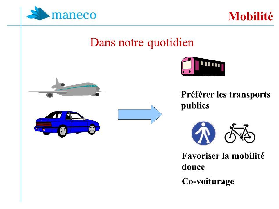 Mobilité Dans notre quotidien Préférer les transports publics