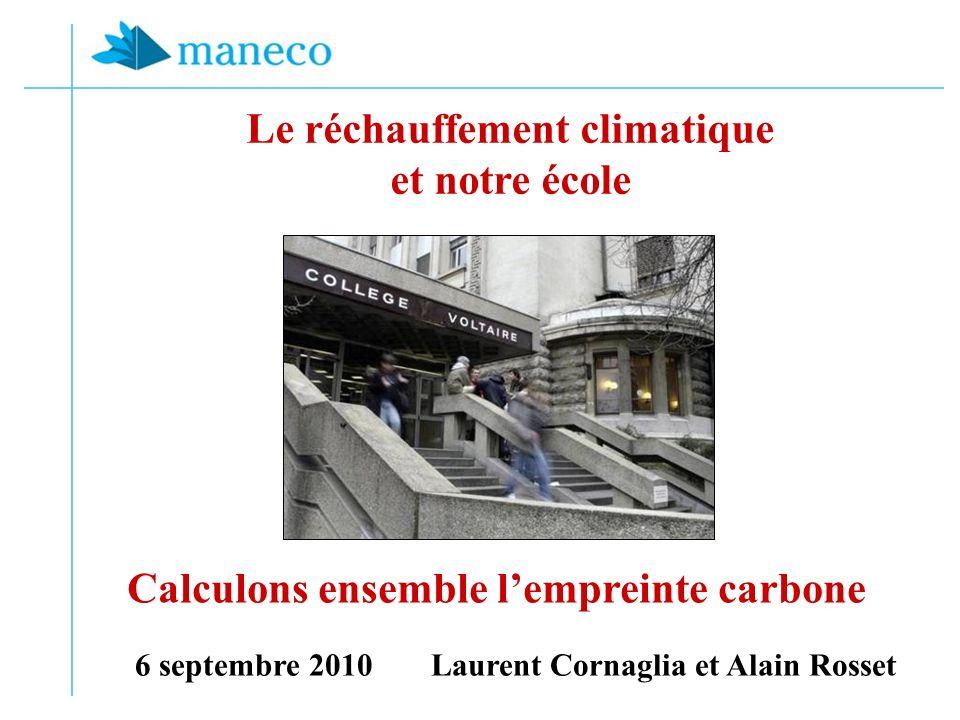 Le réchauffement climatique et notre école