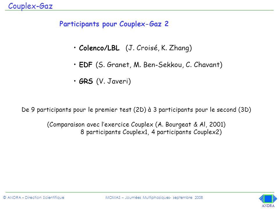 Couplex-Gaz Participants pour Couplex-Gaz 2