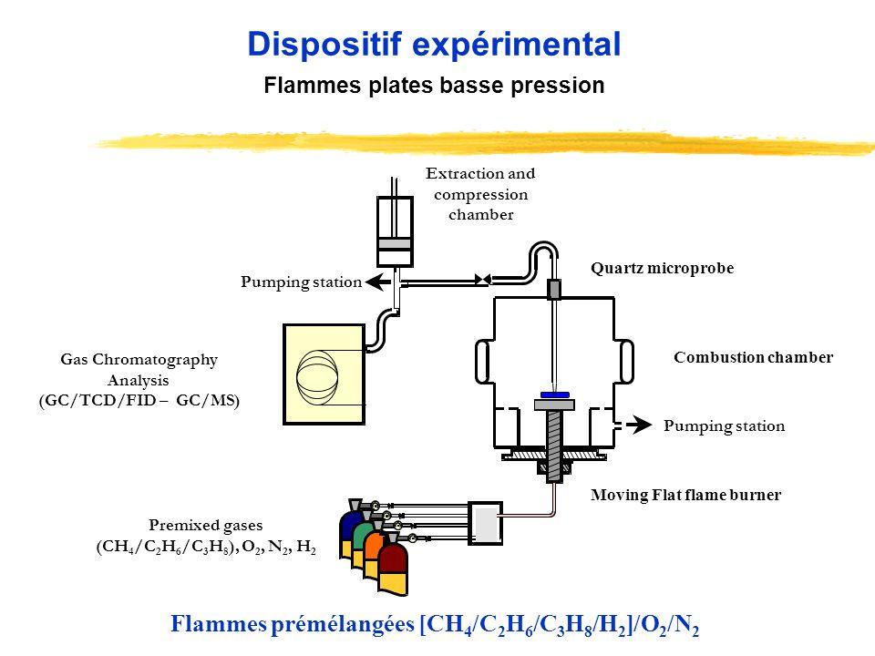Dispositif expérimental Flammes plates basse pression
