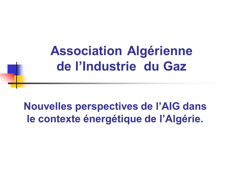 Association Algérienne de l'Industrie du Gaz