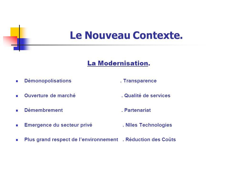Le Nouveau Contexte. La Modernisation.