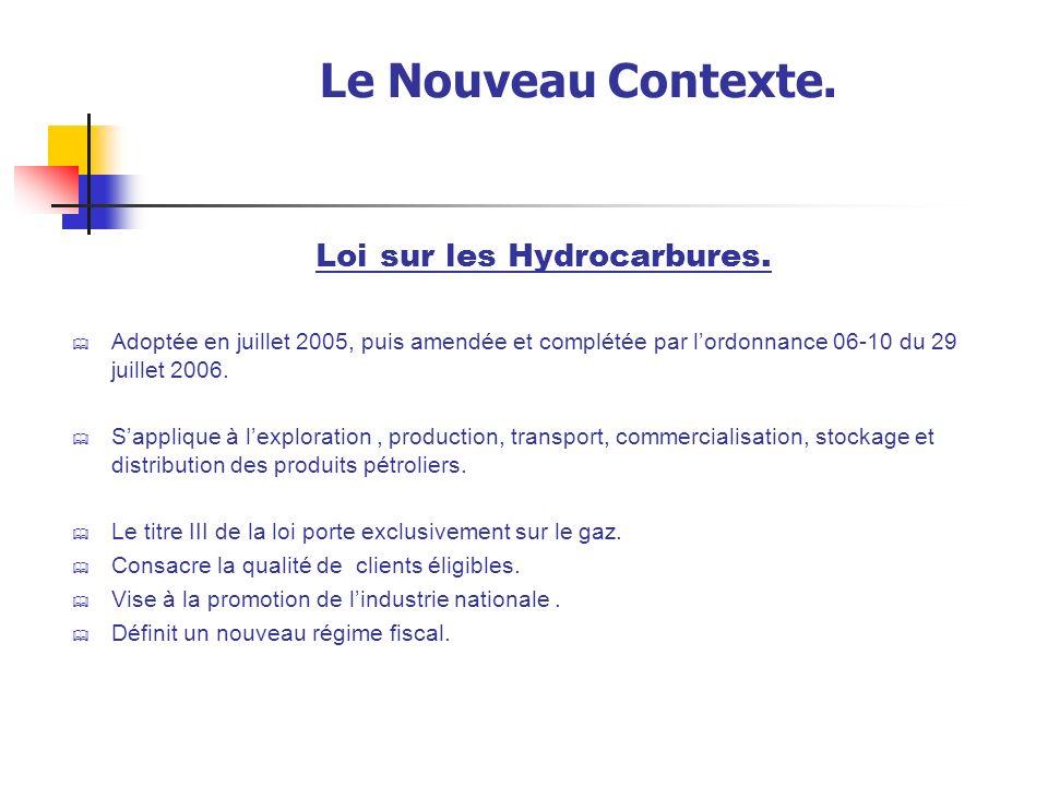 Loi sur les Hydrocarbures.